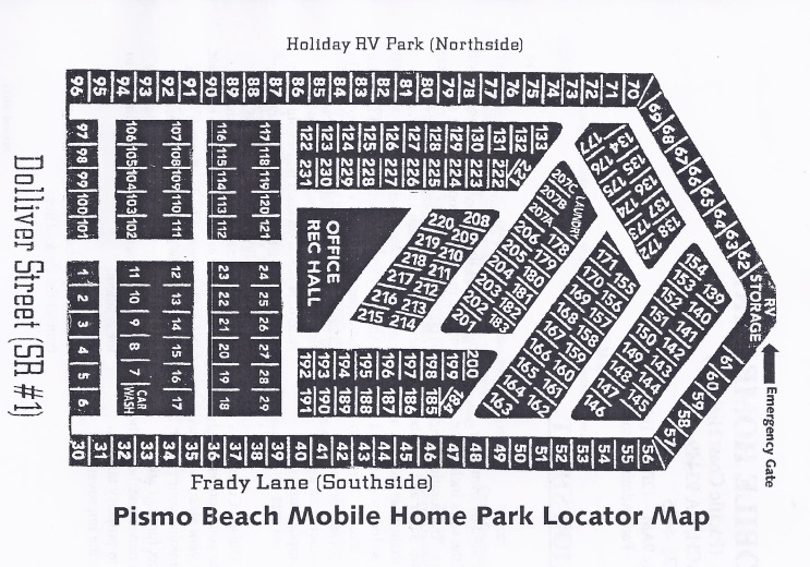 Pismo Beach Mobile Home Park Map 1